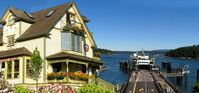 This Friday Harbour vacation rental is a stones throw from the Friday Harbour ferry landing